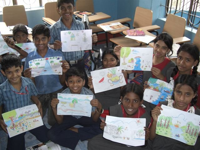 children art at dhaka project